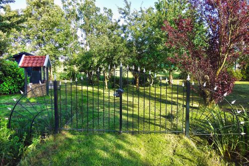 garden gate wrought