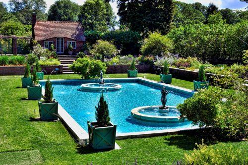 garden dug-out pool summer