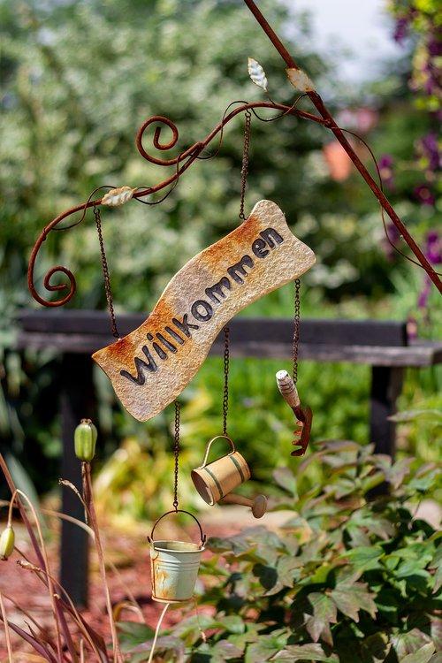 garden  shield  welcome