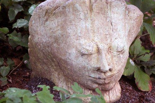 garden  statue  face