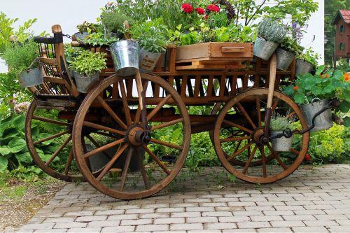 garden deco cart