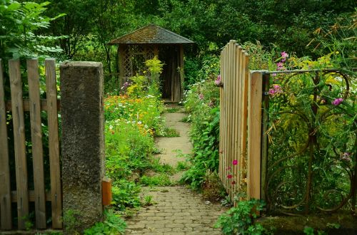 garden garden door cottage garden