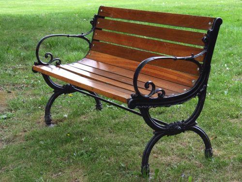 garden bench park empty