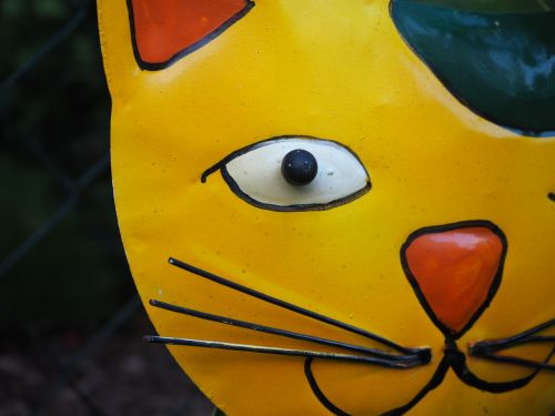 garden decoration cat metal