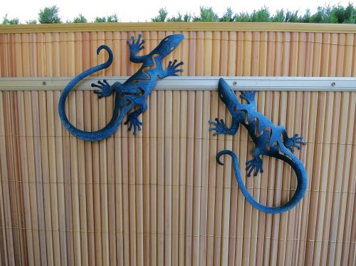 garden decoration garden fence lizards