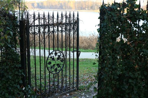 garden gate  lake  vacations