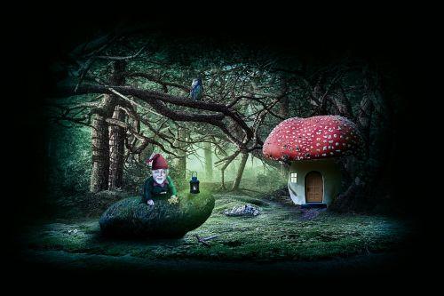 garden gnome dwarf fabric
