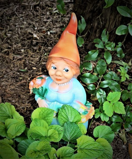 garden gnome garden dwarf woman