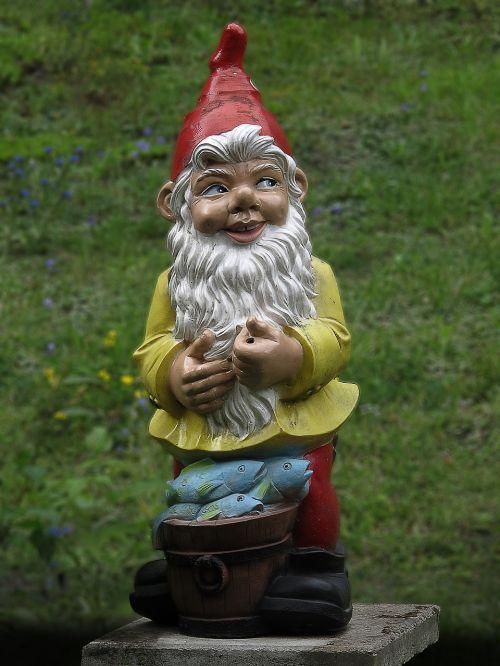 garden gnome imp ceramic