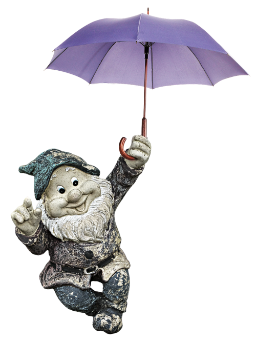 garden gnome dwarf umbrella