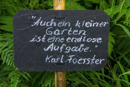 garden sign  garden  saying