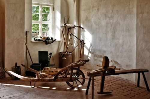 garden tools old historic scythe