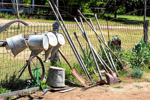 garden tools  gardening  shovel