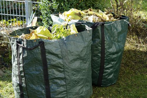 garden waste autumn green waste