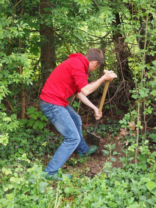 gardening dig earth