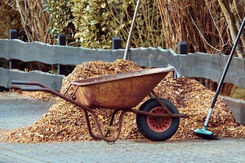 gardening  wheelbarrows  broom