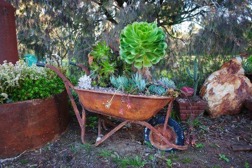 gardening landscaping wheelbarrow
