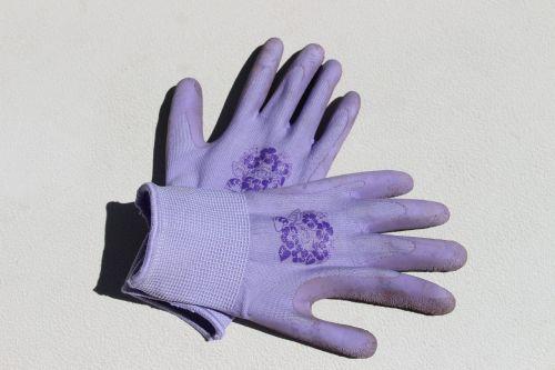 gardening gloves purple gloves