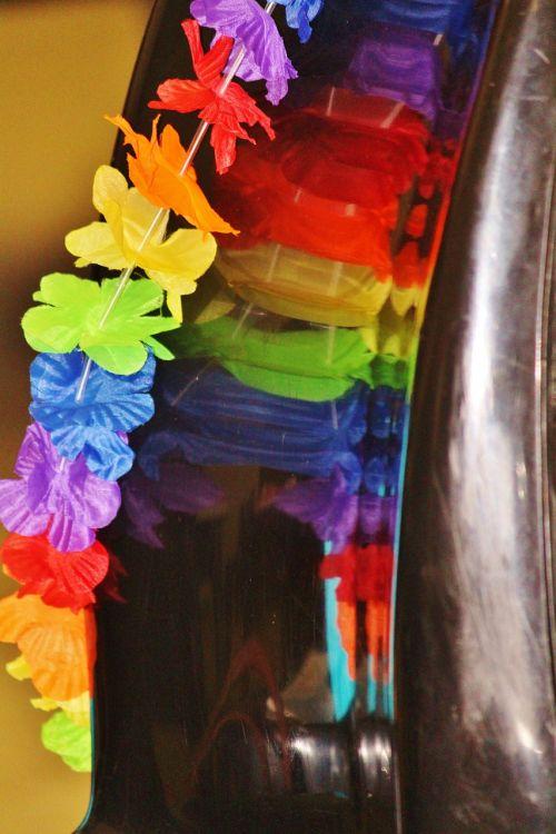 garland mirroring colorful