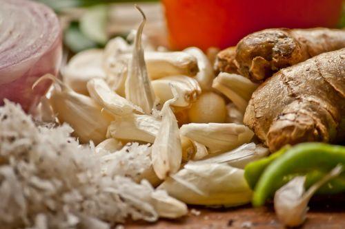 garlic ginger herbs