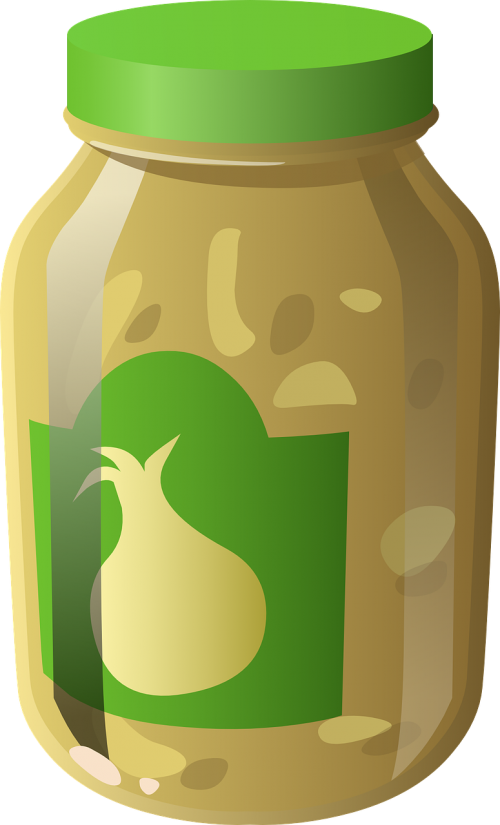 garlic pickles jar
