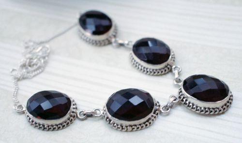 garnet quartz necklace