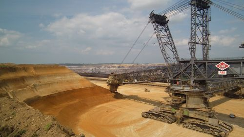 garzweiler open pit mining bucket wheel excavators