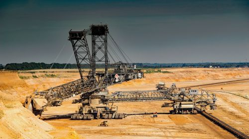garzweiler brown coal open pit mining