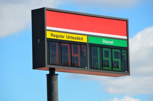 gas fuel sign