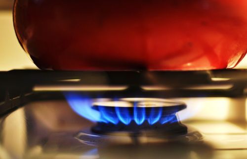 gas stove heat