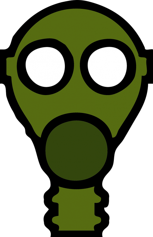 gas mask breathe