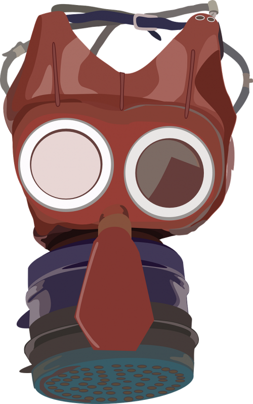 gas mask pollution