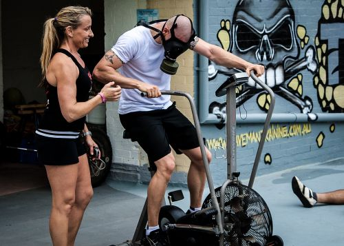 gas mask aerodyne bike crossfit