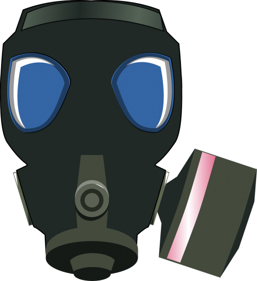 gas mask black protection