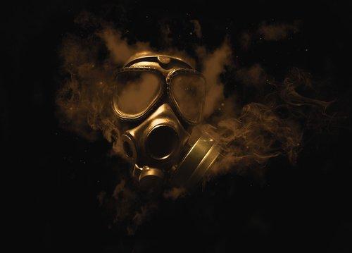 gas mask  smoke  gas