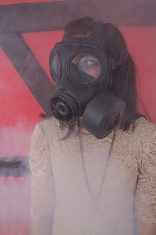 gas mask girl dress