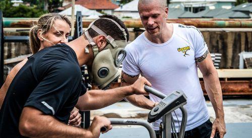 gas mask training fitness hardcore training