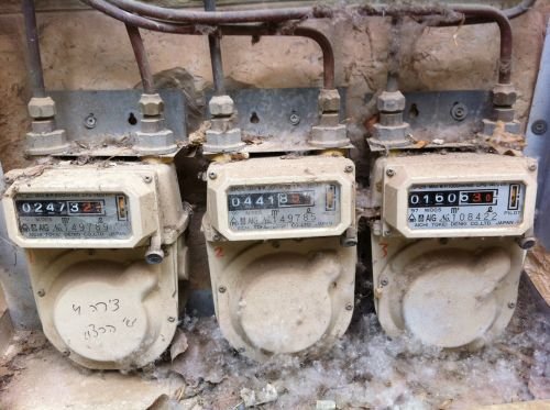 gas meter old damaged