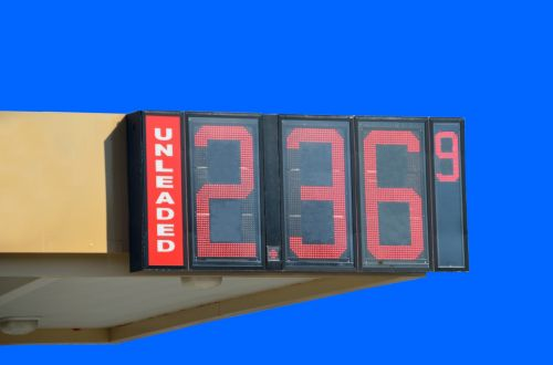 gas price sign fuel