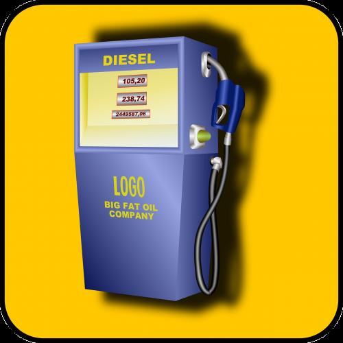 gas pump gasoline purple