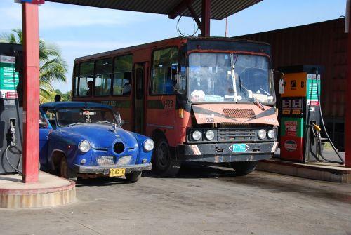gas station bus diesel fuel