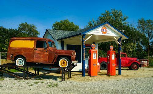 gas station vintage antique