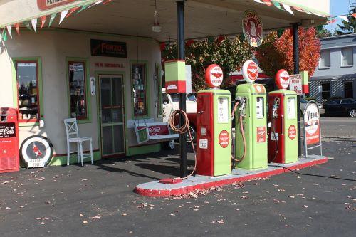 gas station vintage gasoline