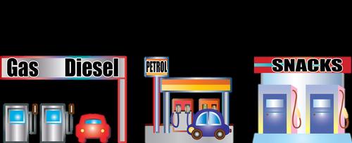 gas station  diesel  petrol