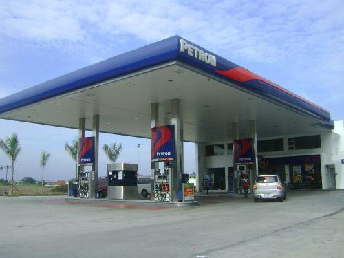 gas station petrol station pump