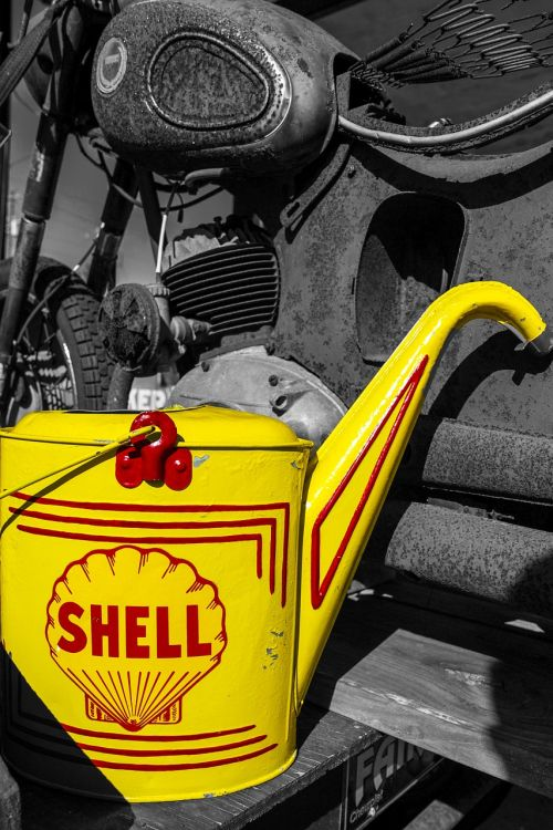 gasoline gas vintage