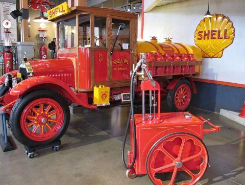 gasoline delivery truck tanker antique