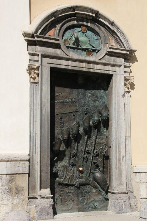 gate bronze ljubljana