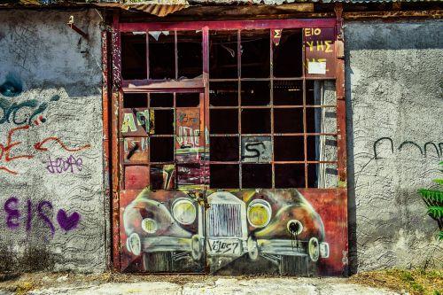 gate rusty grunge