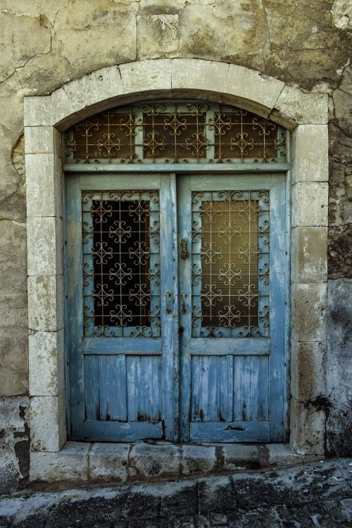 gate door blue